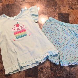 Size 4t cupcake summer pajamas!